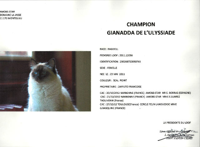 titre Gianadda championne